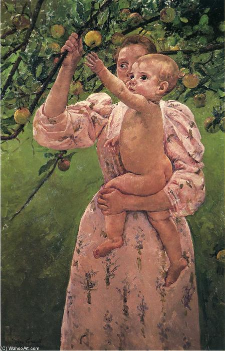 famous painting Baby Reaching For An Apple of Mary Stevenson Cassatt