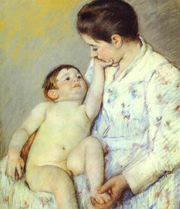 Mary Stevenson Cassatt - Baby's First Caress