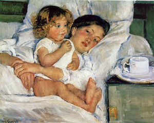 Mary Stevenson Cassatt - Breakfast in Bed