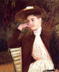 Mary Stevenson Cassatt - Celeste in a Brown Hat