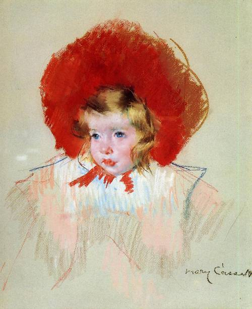famous painting Child with Red Hat of Mary Stevenson Cassatt