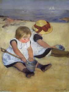 Mary Stevenson Cassatt - Children at the Seashore