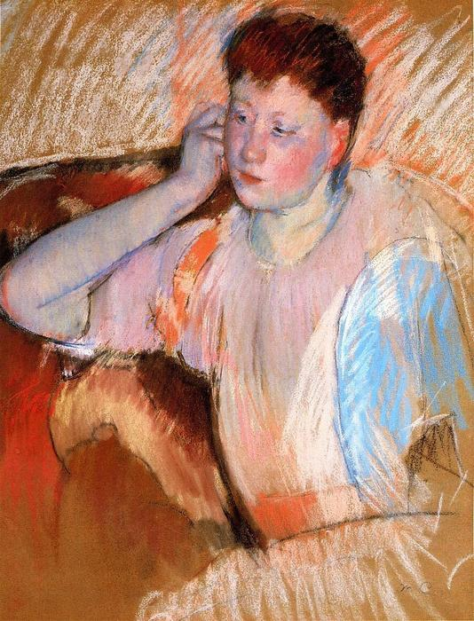 famous painting Clarissa Turned Left with Her Hand to Her Ear of Mary Stevenson Cassatt