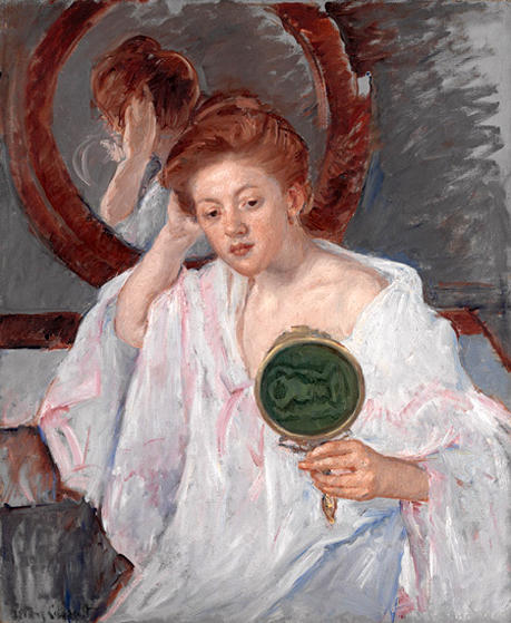 famous painting Denise at Her Dressing Table of Mary Stevenson Cassatt