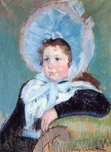 famous painting Dorothy in a Very Large Bonnet and a Dark Coat of Mary Stevenson Cassatt