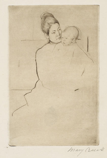 famous painting Gardner Held by his Mother of Mary Stevenson Cassatt