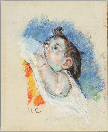famous painting Head of a Child of Mary Stevenson Cassatt