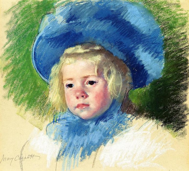 famous painting Head of Simone in a Large Plumes Hat Looking Left of Mary Stevenson Cassatt