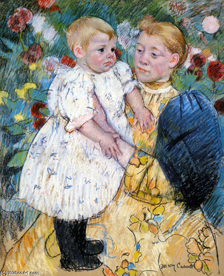 famous painting In The Garden 1 of Mary Stevenson Cassatt