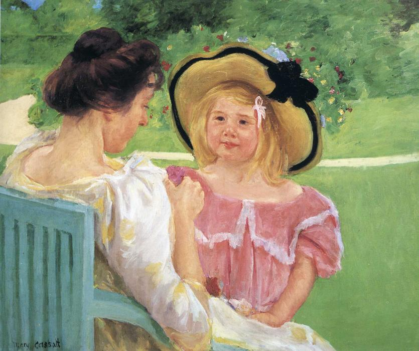 famous painting In the Garden of Mary Stevenson Cassatt