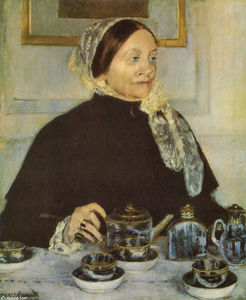 Mary Stevenson Cassatt - Lady at the tea table