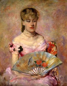 Mary Stevenson Cassatt - Lady with a Fan aka Portrait of Anne Charlotte Gaillard
