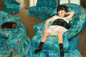 Mary Stevenson Cassatt - Little Girl in a Blue Armchair