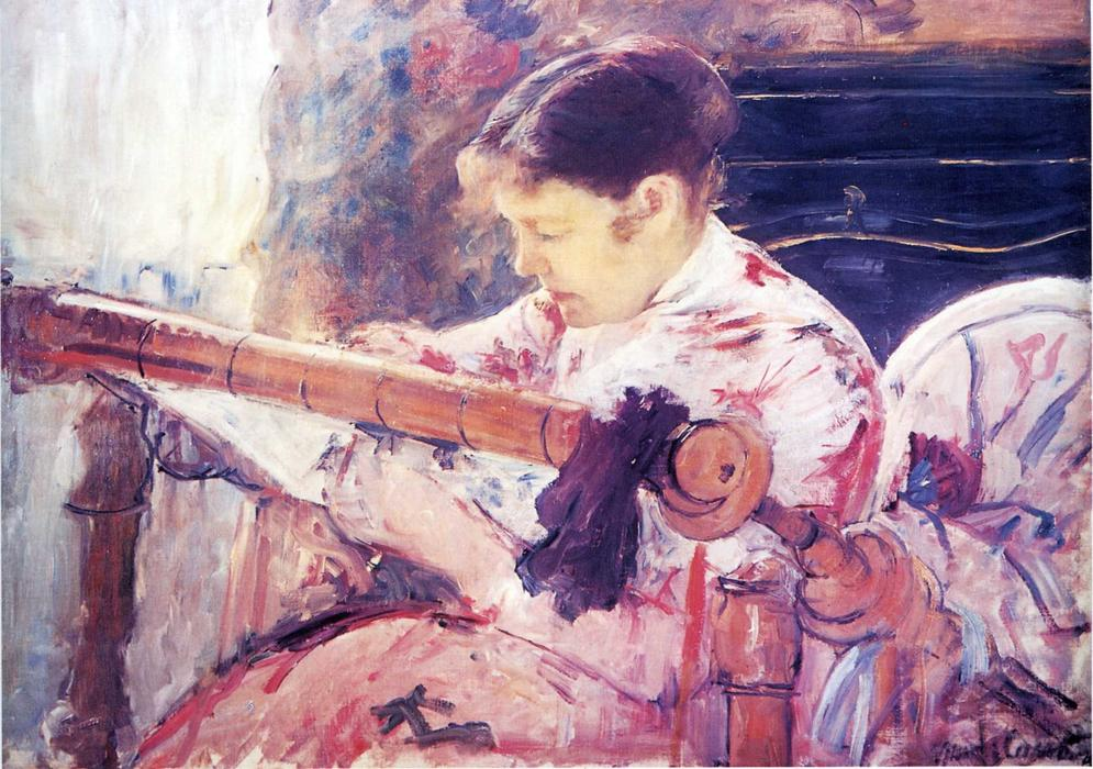 famous painting Lydia at the Tapestry Loom of Mary Stevenson Cassatt