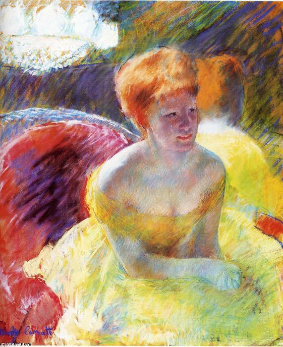 famous painting Lydia Leaning on Her Arms of Mary Stevenson Cassatt
