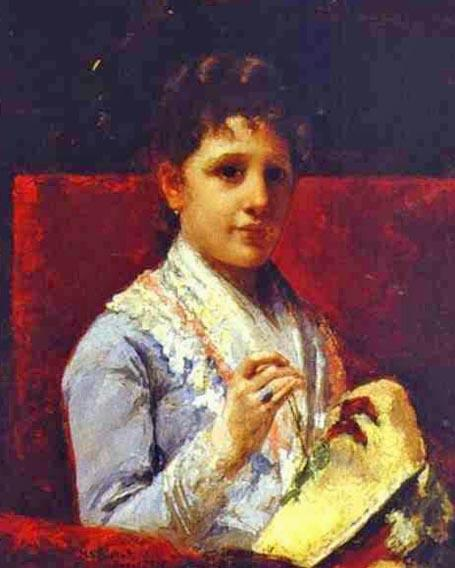 famous painting Mary Ellison Embroidering of Mary Stevenson Cassatt