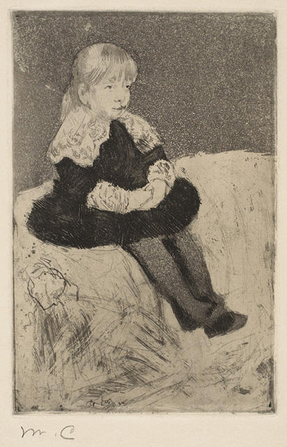 famous painting Mlle Luguet Seated on a Couch of Mary Stevenson Cassatt