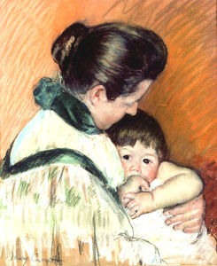 Mary Stevenson Cassatt - Mother and Child 2