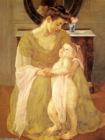 famous painting Mother and Child 3 of Mary Stevenson Cassatt