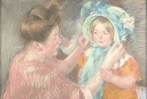 Mary Stevenson Cassatt - Mother and Little Girl