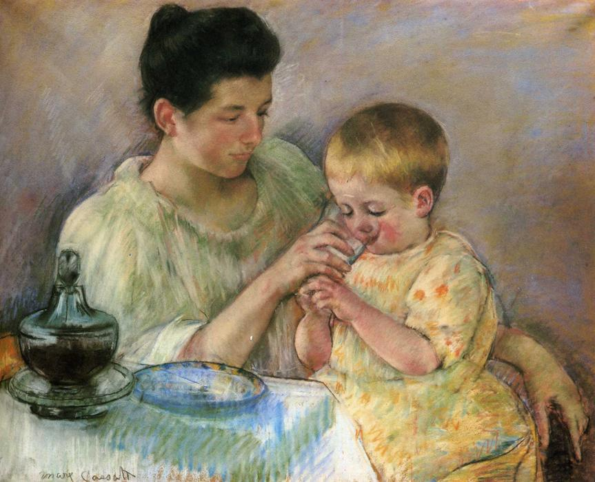 famous painting Mother Feeding Child of Mary Stevenson Cassatt