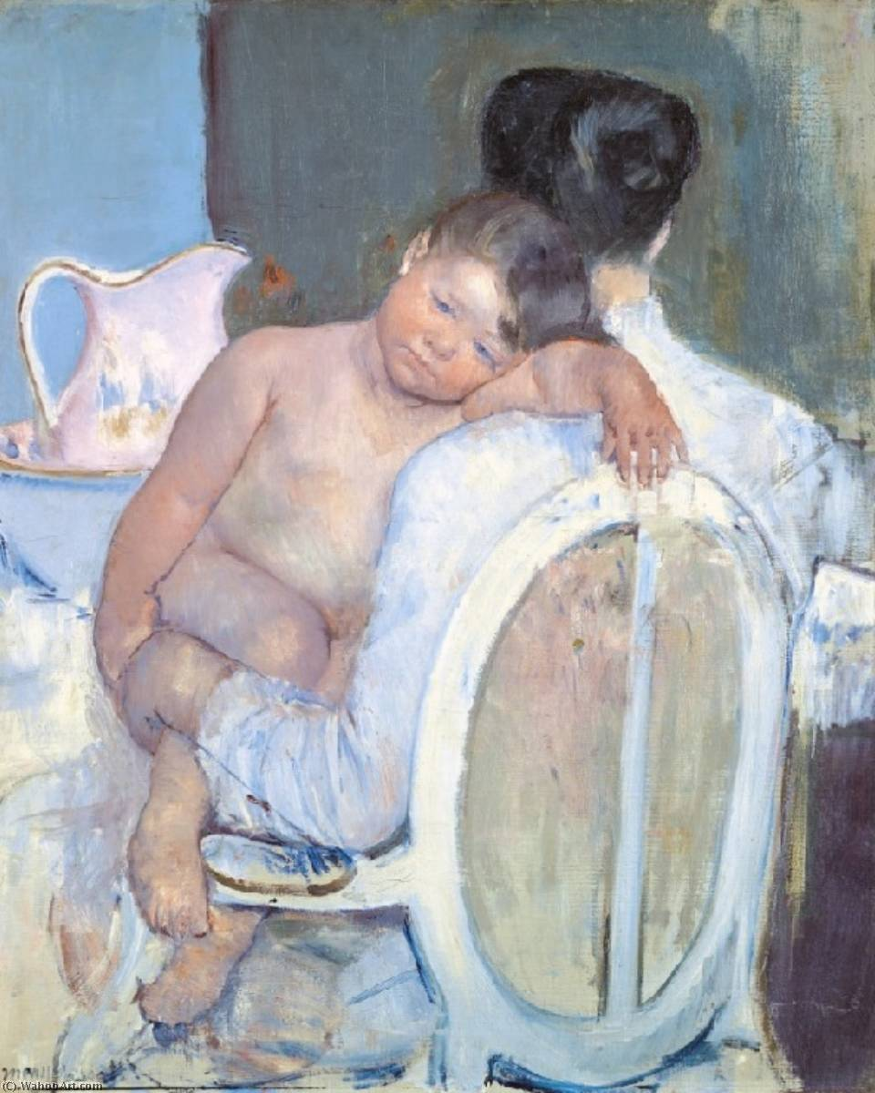 famous painting Mother Holding a Child in Her Arms of Mary Stevenson Cassatt