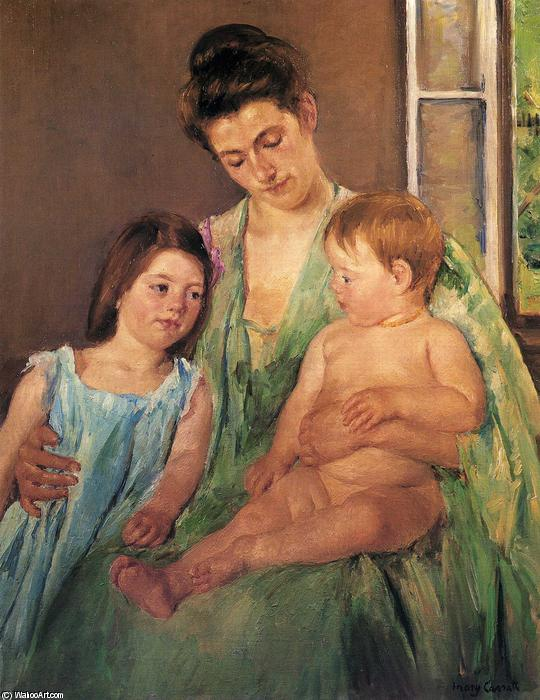 famous painting Mother looking down on her children of Mary Stevenson Cassatt
