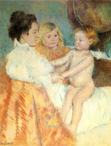 Mary Stevenson Cassatt - Mother Sara and the Baby counterproof
