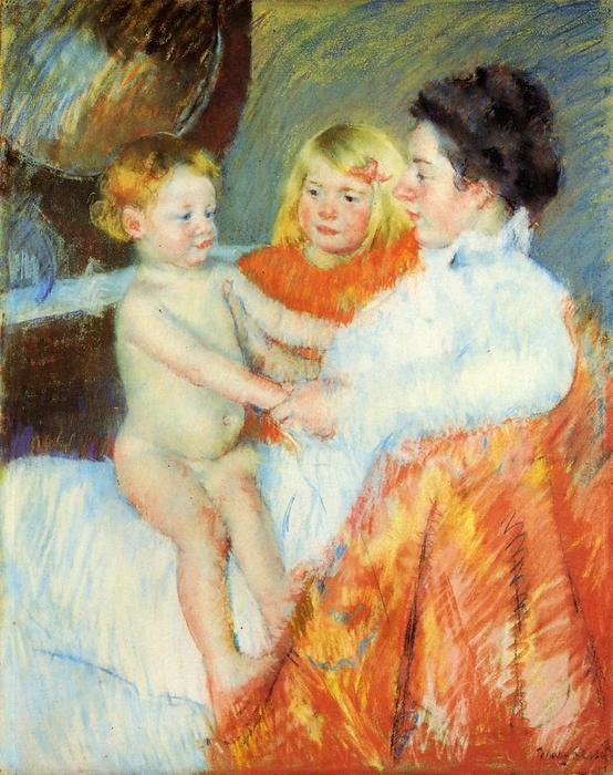 famous painting Mother Sara and the Baby of Mary Stevenson Cassatt
