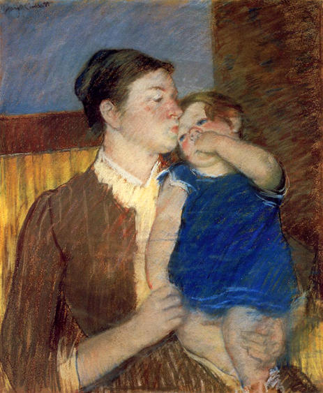 famous painting Mother's Goodnight Kiss of Mary Stevenson Cassatt