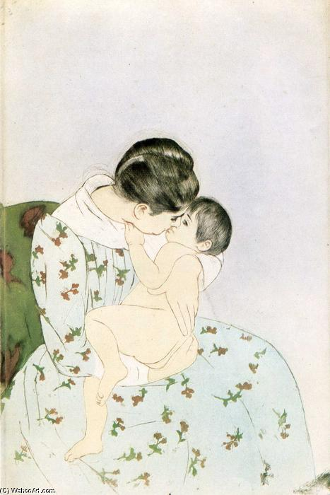 famous painting Mother's Kiss of Mary Stevenson Cassatt
