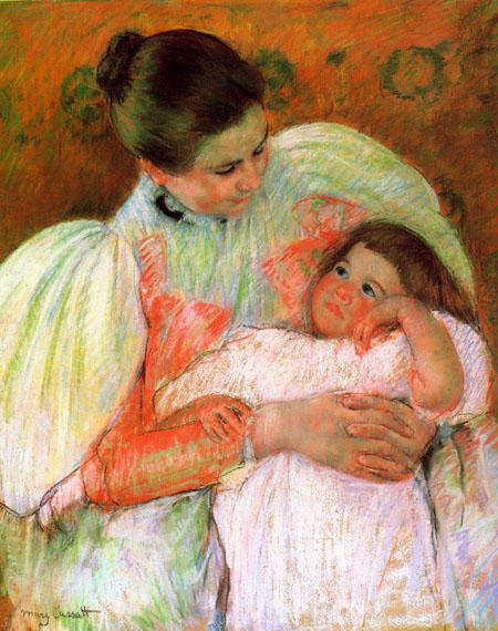 famous painting Nurse and Child of Mary Stevenson Cassatt