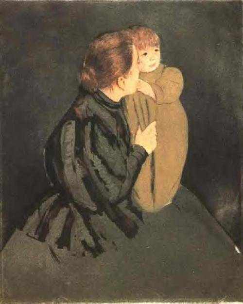 famous painting Peasant Mother and Child 1 of Mary Stevenson Cassatt