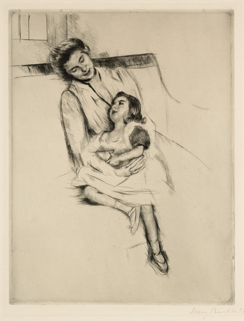 famous painting Reine and Margot Seated on a Sofa of Mary Stevenson Cassatt