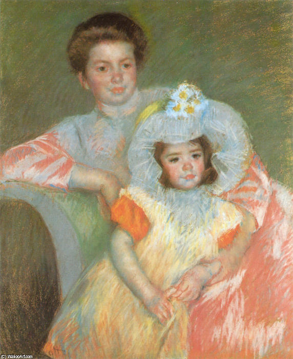 famous painting Reine Lefèbvre and Margot of Mary Stevenson Cassatt