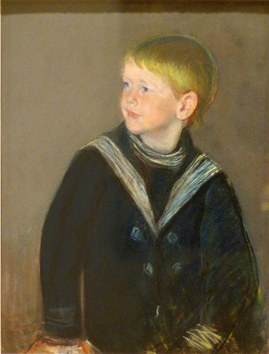famous painting Sailor Boy. Portrait of Gardner Cassatt as a Child of Mary Stevenson Cassatt
