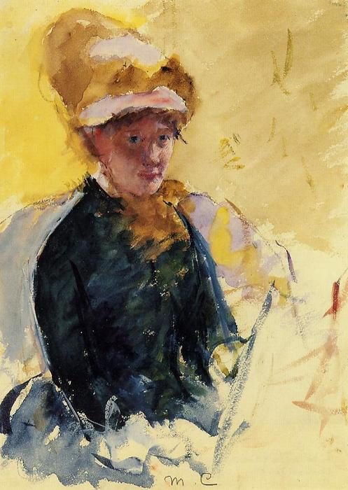 famous painting Self Portrait of Mary Stevenson Cassatt