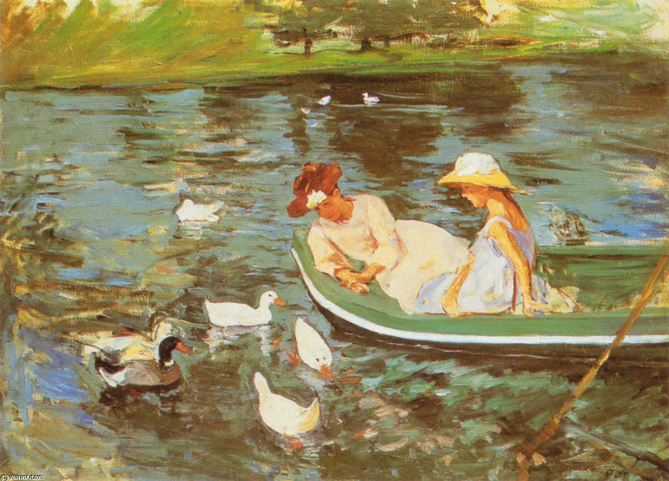 famous painting Summertime of Mary Stevenson Cassatt