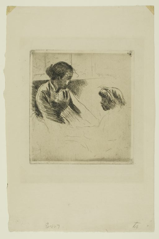 famous painting Susan and Child Facing each Other of Mary Stevenson Cassatt