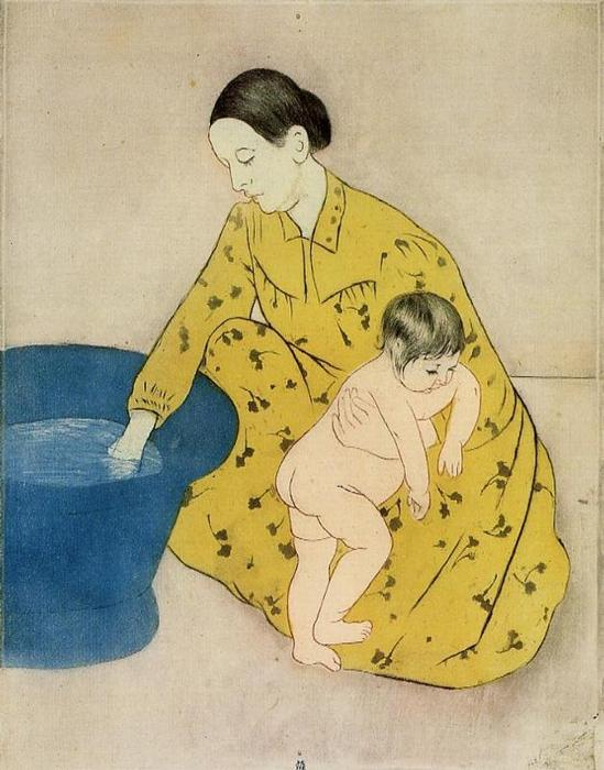 famous painting The Child's Bath 2 of Mary Stevenson Cassatt