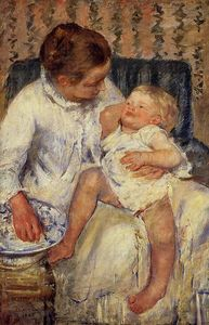 Mary Stevenson Cassatt - The Child-s Bath