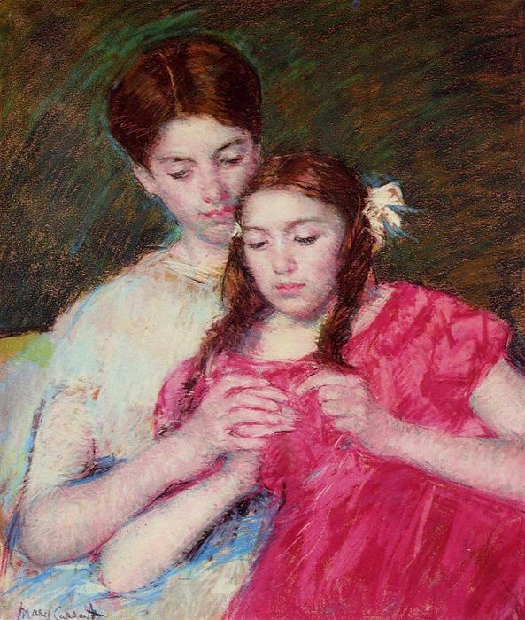 famous painting The Chrochet Lesson of Mary Stevenson Cassatt