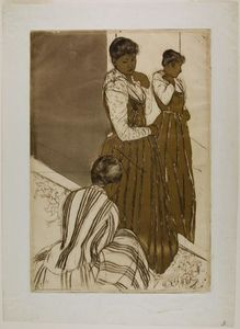 Mary Stevenson Cassatt - The Fitting 1