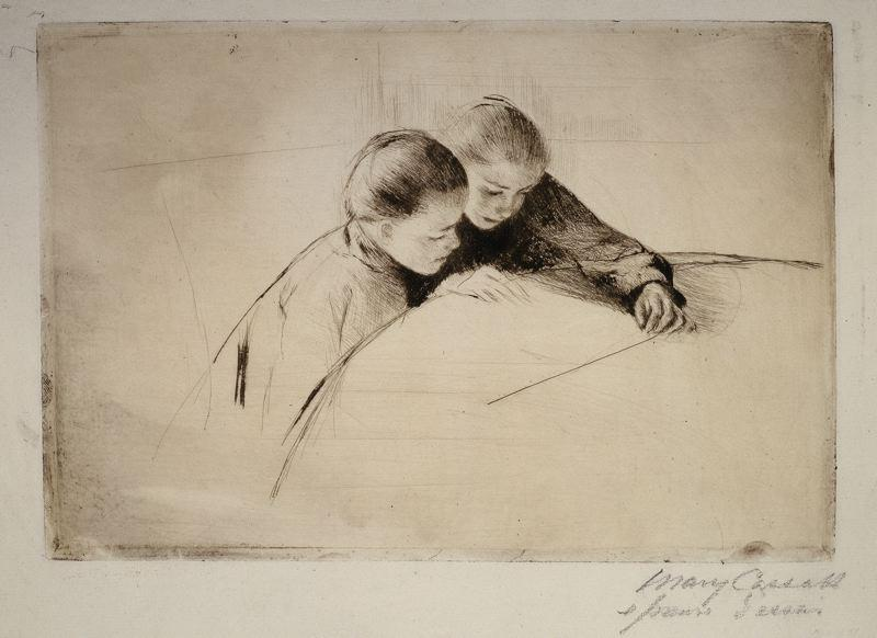 famous painting The Map of Mary Stevenson Cassatt