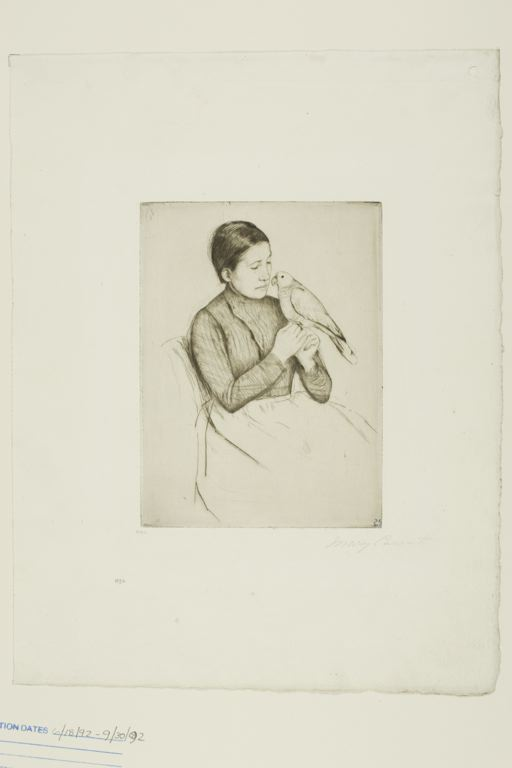 famous painting The Parrot of Mary Stevenson Cassatt
