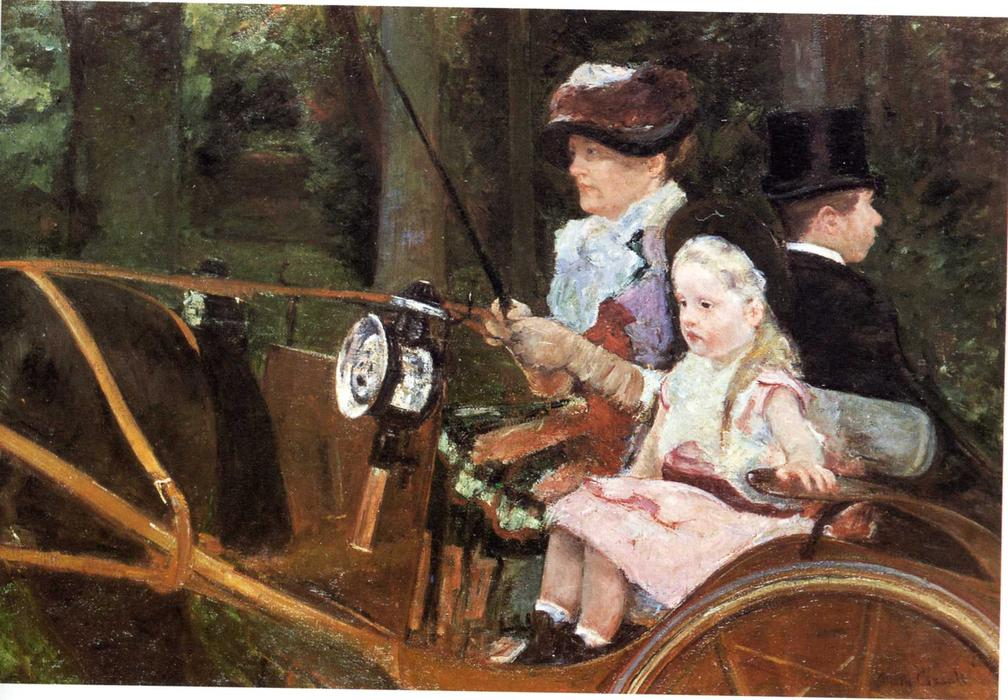 famous painting Woman and child driving of Mary Stevenson Cassatt