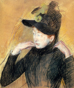 Mary Stevenson Cassatt - Woman Arranging Her Veil
