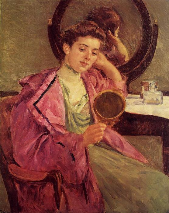 famous painting Woman at Her Toilette of Mary Stevenson Cassatt
