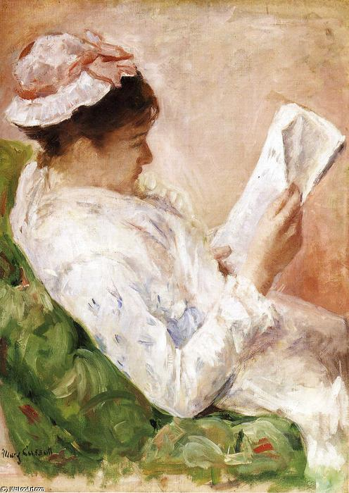 famous painting Woman reading of Mary Stevenson Cassatt