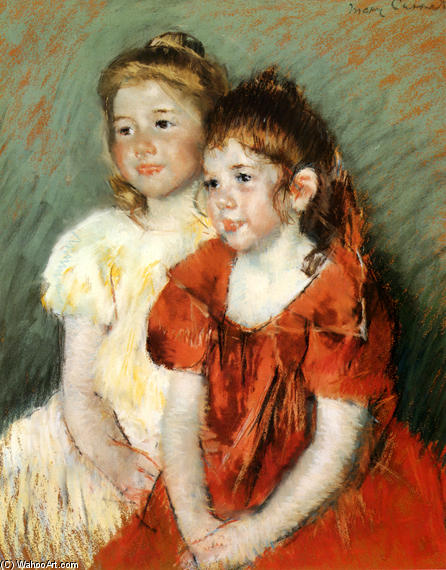 famous painting Young Girls of Mary Stevenson Cassatt